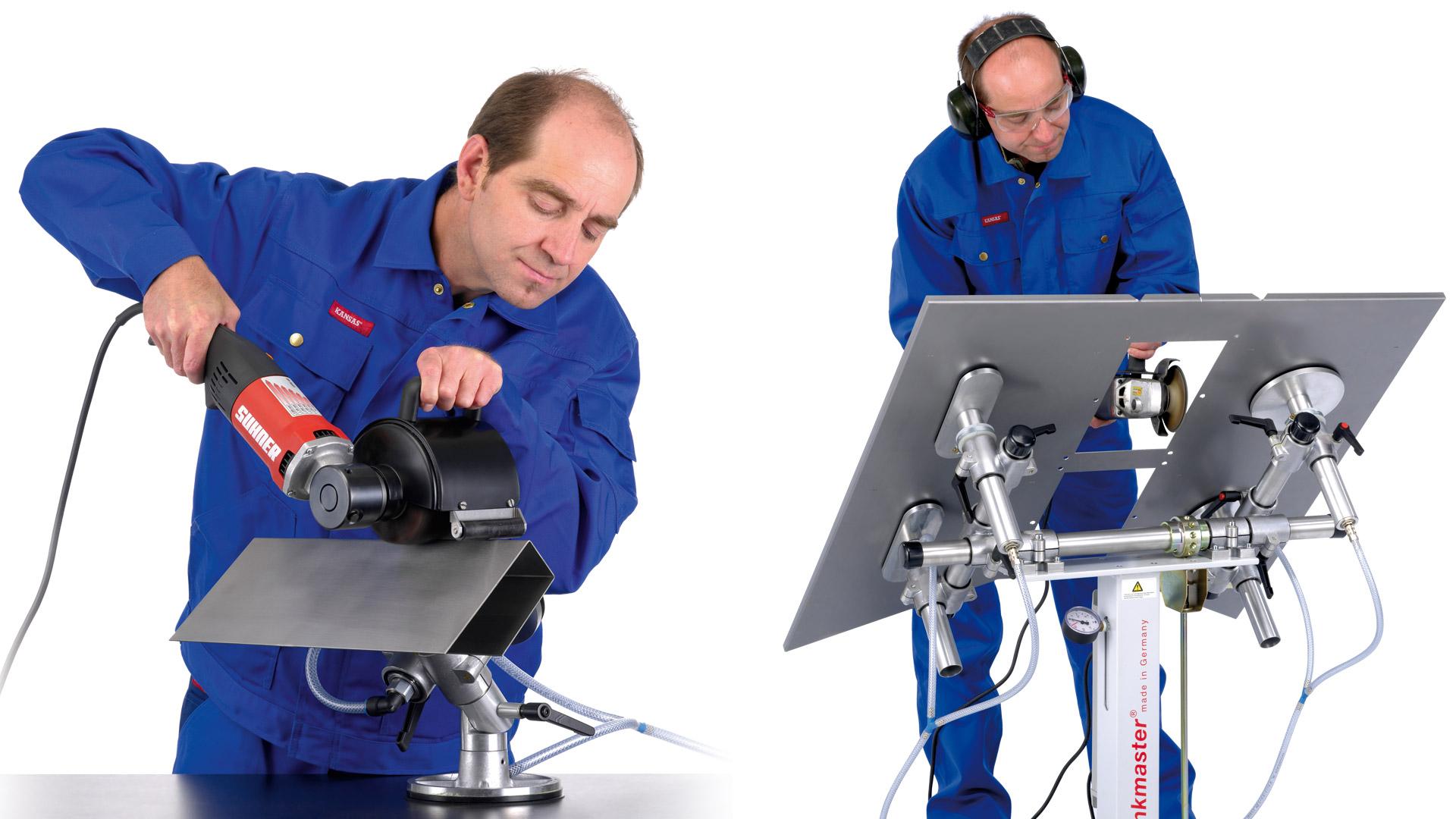 bankmaster Vakuumspannsystem für Metalloberflächen